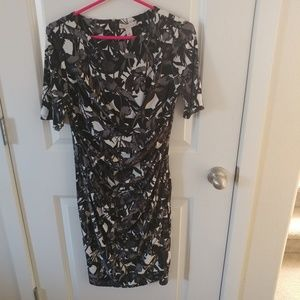 Connected Apparel Black White Dress size 8